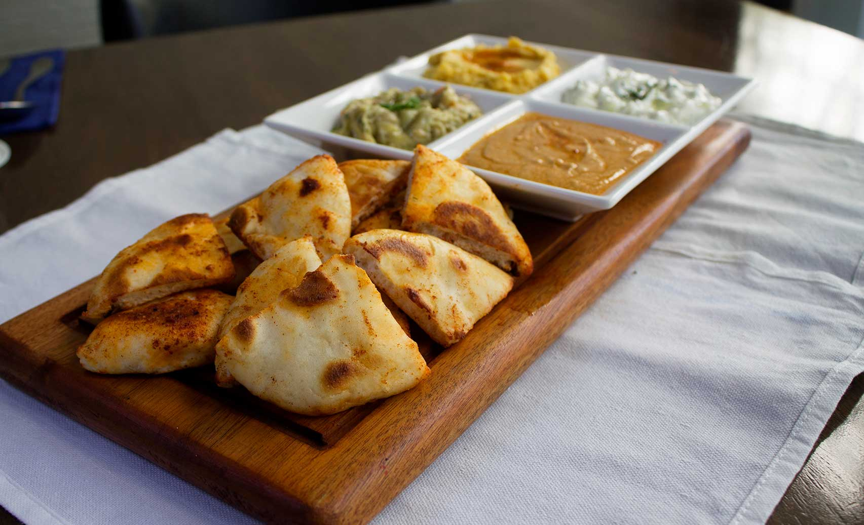 All four dips to share.